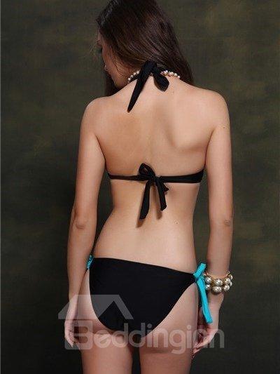 Amazing Halter Neck Push Up Plus Size Bikini