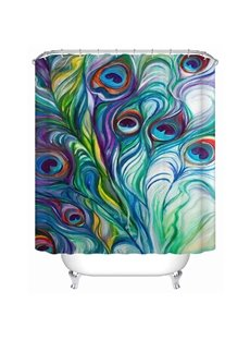 Fantastic Creative Peacock Colorful World Shower Curtain
