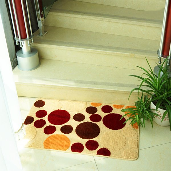 Modern Multi-Color Circles Print Anti-Slipping Area Rugs