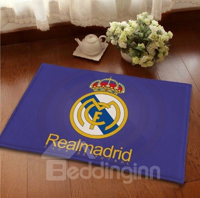 Creative Football Club Theme Real Madrid Emblem Area Rugs
