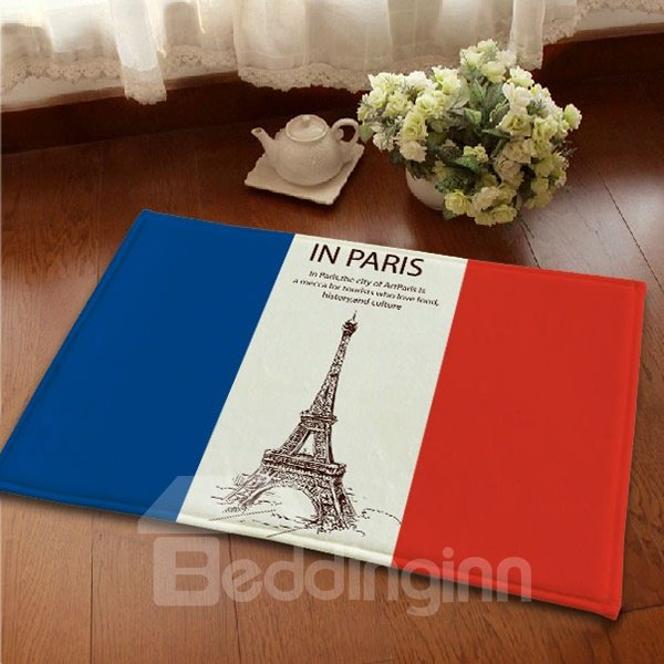 Top Quality Flannel Anti-Slipping France Flag Area Rugs