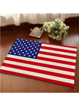 Top Quality Flannel Anti-Slipping American Flag Area Rugs