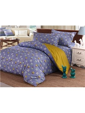 Lovely Futuristic Style 4-Piece Cotton Duvet Cover Sets
