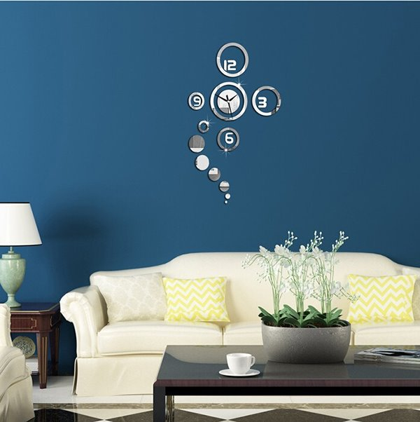 67 Creative And Simple Original 3d Acrylic Mirror Wall Sticker Clock