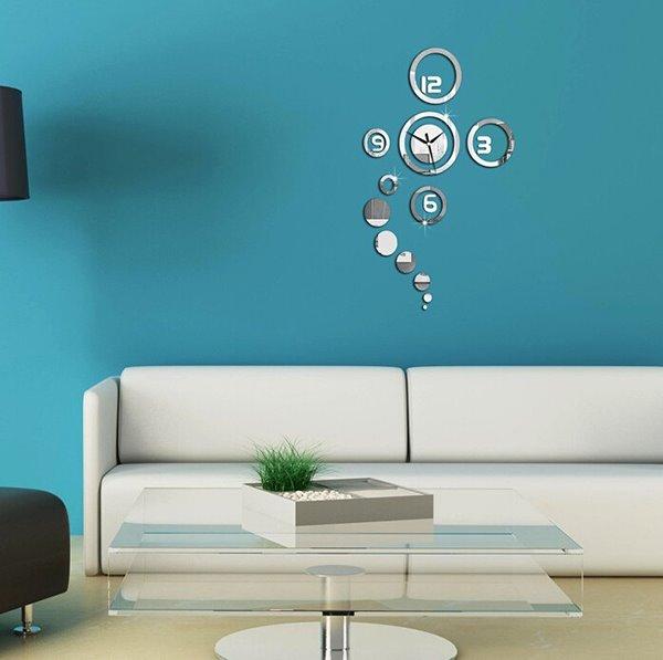 Creative Original 3D Acrylic Mirror Wall Sticker Wall Clock