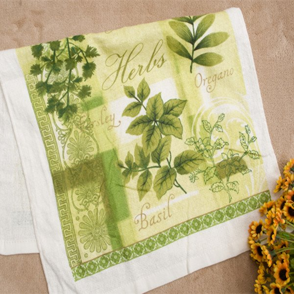 Lovely High Class Green leaves Cotton Towels
