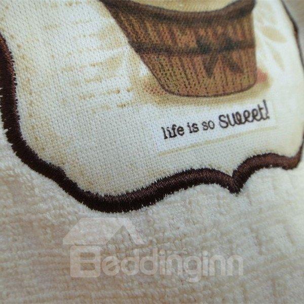 Cute Tasty Cake Check Pattern Cotton Towel