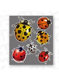 Lively Multi-Color Ladybugs Lifelike Car Stickers
