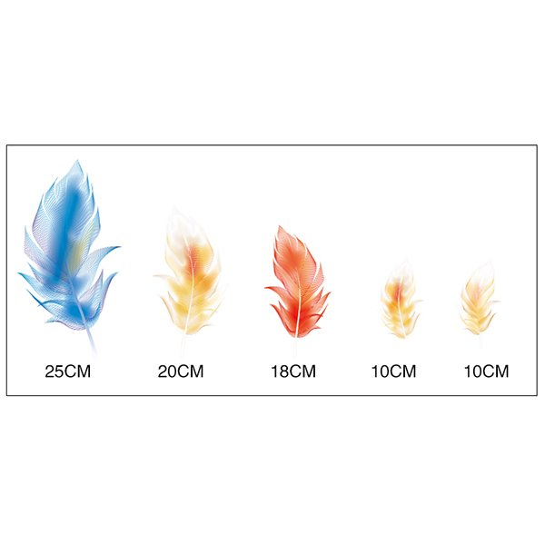 Perfect Designed Distinctive Feather Decorating Car Stickers