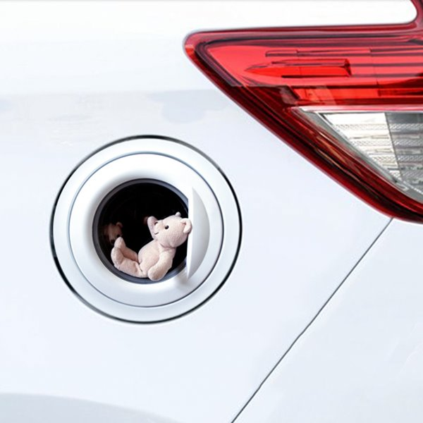 Cute Little Bear Fuel Tank Cap Car Stickers