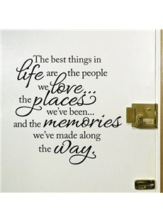 Inspiring Words and Quotes Life Motto Romovable Wall Sticker