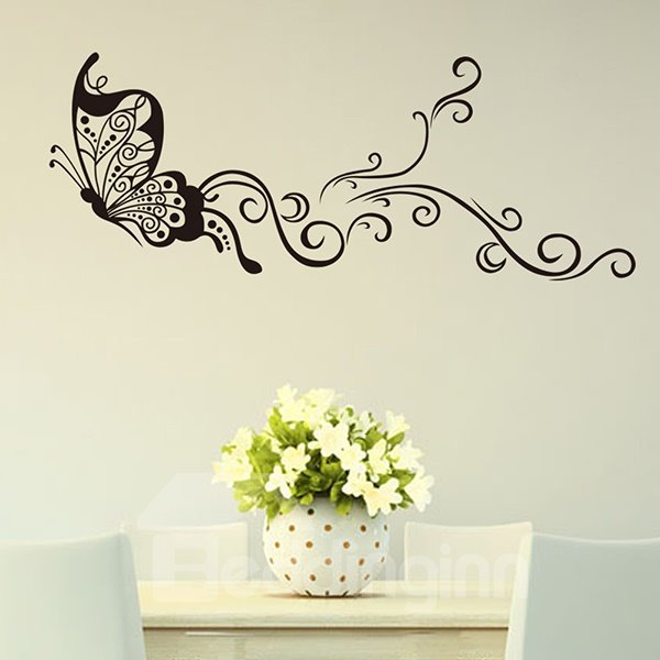 Glamorous Dancing Fairy Butterfly Removable Wall Sticker
