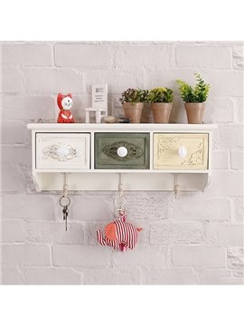 Versatile and Elegant Functional Wall Shelf with Storage Drawer Wall Hook Decoration