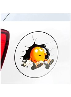Puzzling Egg Pondering 3D Car Stickers