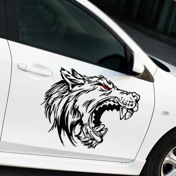 62 super cool wolf totem light reflective car stickers