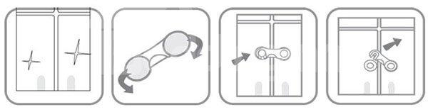 Baby Safety 2-Piece Cabinet & Drawer Lock Set