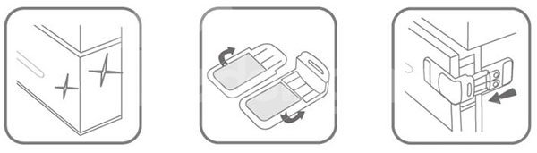Top Quality Orthogonal Baby Safety Drawer Lock