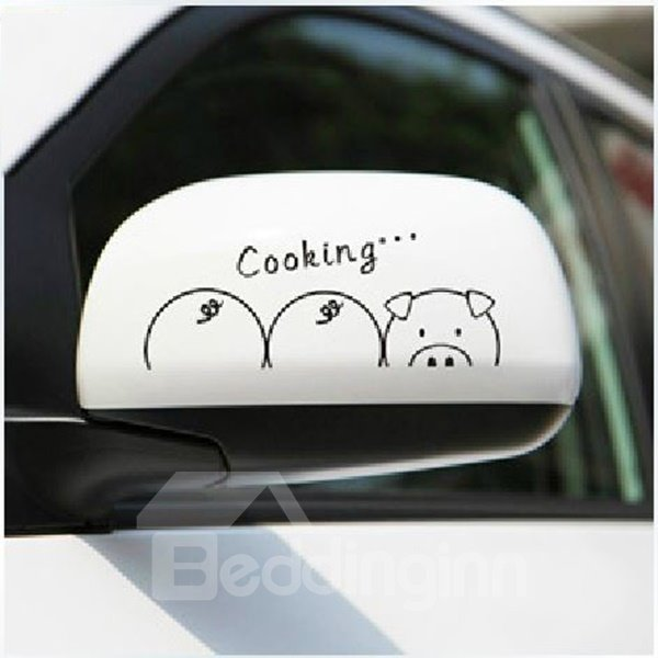 Adorable Pig Starving Pattern Car Stickers