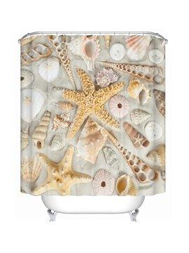 Unique Vivid 3D Beach Scenery Perfect Waterproof Shower Curtain