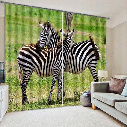 Vvid 3D Zebra Light Blocking Curtain