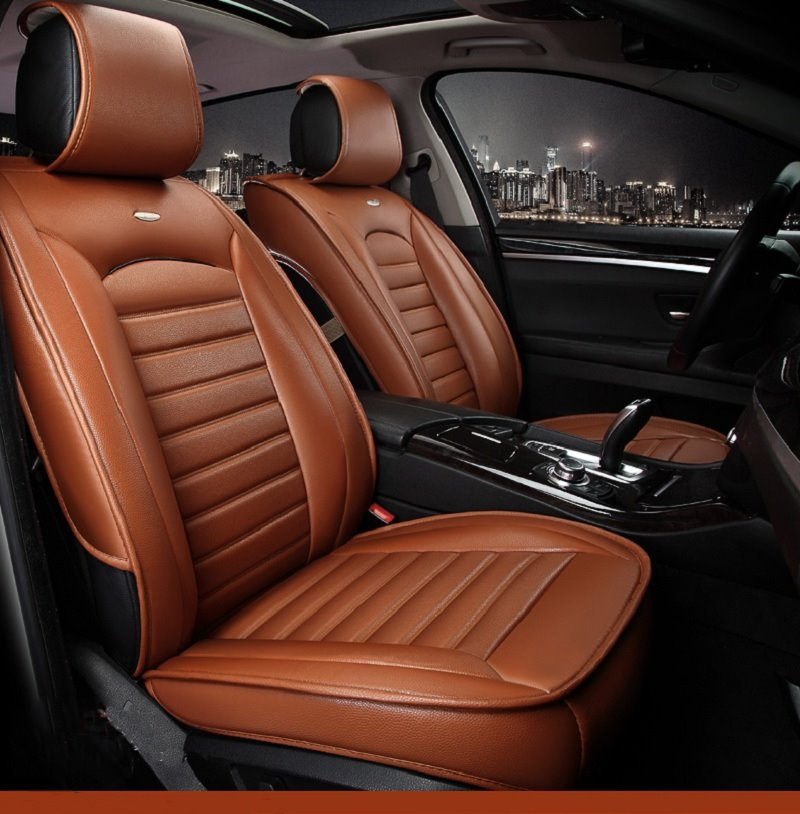 luxurious business style leather classic design leather universal car seat cover. Black Bedroom Furniture Sets. Home Design Ideas