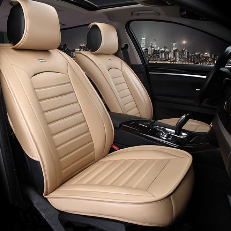 Classic Solid Color Design Luxurious Style Durable PET Material Car Seat Cover
