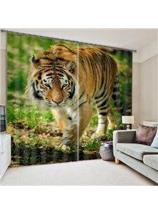 3D Walking Tiger Living Room&Bedroom Blackout Curtain