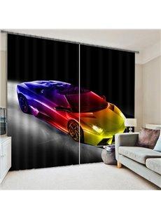 Fashion Sports Car Printing 3D Curtain