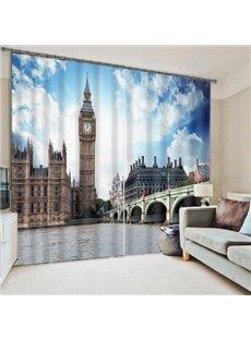 The London Big Ben Printing 3D Curtain