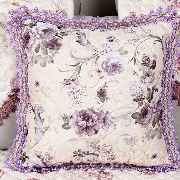 Noble European Jacquard Style Comfy Throw Pillow Case