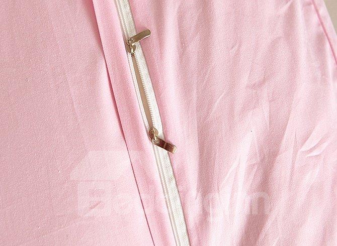 Kids Fashion Pink 4 Piece Organic Cotton Duvet Cover Sets
