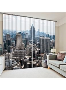 City Skyscrapers of New York Printing 3D Curtain