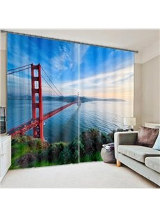 City View Golden Gate Bridge Printing 3D Curtain