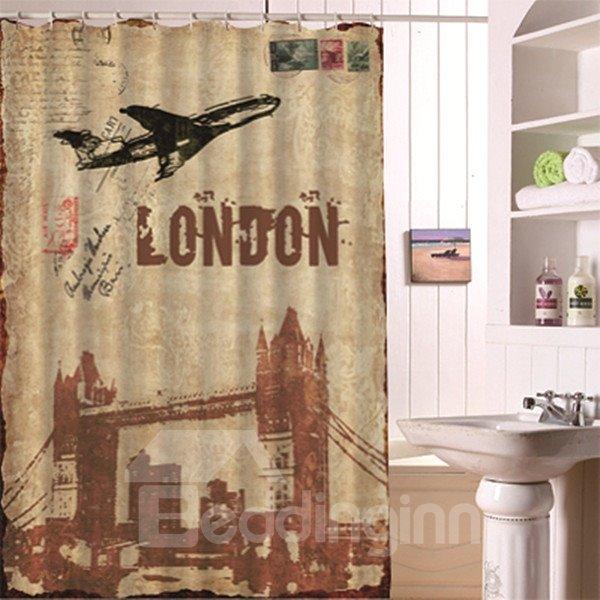 European Illustration Style London Tour Shower Curtain