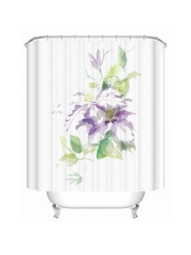 Graceful Colorful Lotus Abstract Painting Shower Curtain