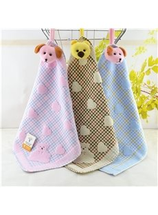 Soft Bear and Hearts Pure Cotton Towels