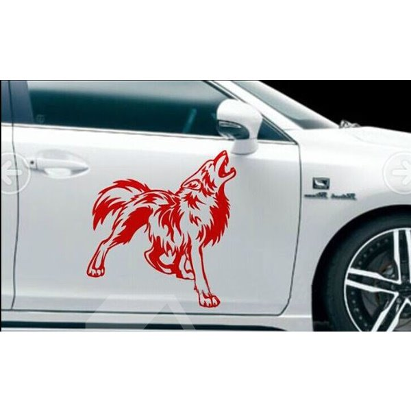 Most Attractive Wolf Roaring Totem Creative Car Stickers
