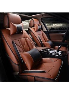 High-Grade Charming Design PU Leatherette Material Universal Five Car Seat Covers