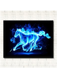 Fantastic Creative Original Flaming Horse Framed Wall Art Prints