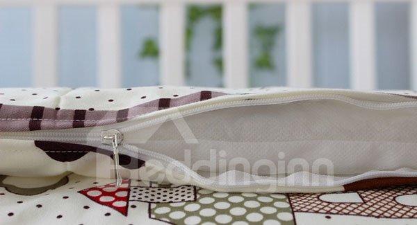 Heart Shape Pattern 10-Piece Cotton Baby Crib Bedding Set