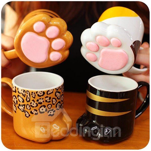 Irresistible Super Cute Cat Paw Design Porcelain Coffee Mugs