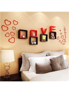 Romantic Decorative Love Theme Wall Mounted Wall Shelf