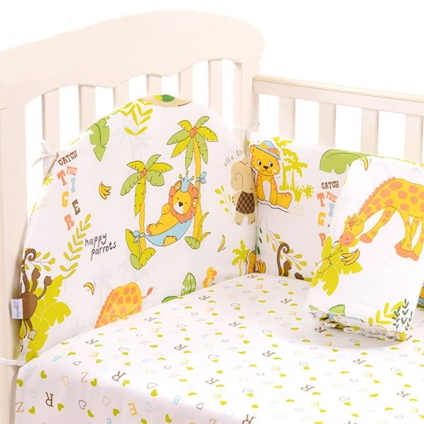 The Animal Kingdom 6-Piece Cotton Crib Bedding Set