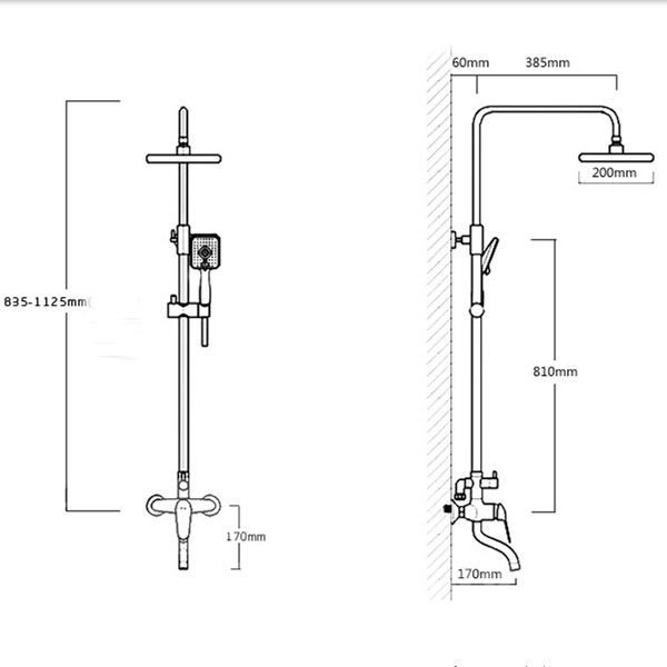 Dual Thermostatic Stainless Steel Shower Head Set