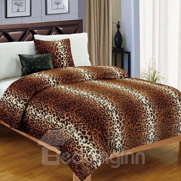 Wild Stylish Leopard Style Coral Fleece Blanket
