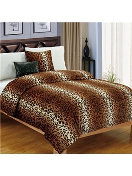 Wild Stylish Leopard Style Coral Fleece Blanket