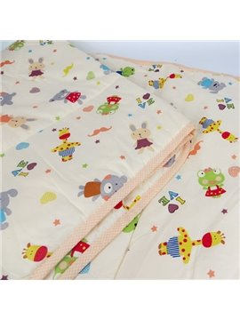 Adorable Colorful Various Animals Baby Quilt
