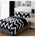 Modern Fashion Black White Stripe Style Bed in a Bag