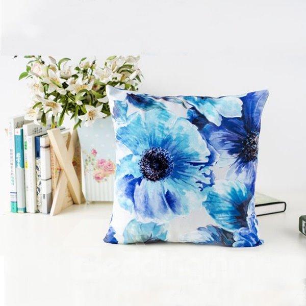 Retro Oil Painting Flower Design Throw Pillow
