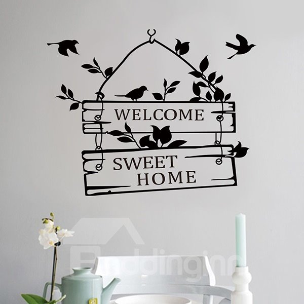Words and Quotes Welcome Sign Removable Wall Sticker